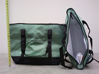 Photo of HSN-tested 17 inch green food transport pouch